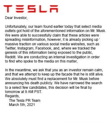 Thông tin Elon Musk qua đời trong một vụ nổ gây hoang mang mạng xã hội - 2