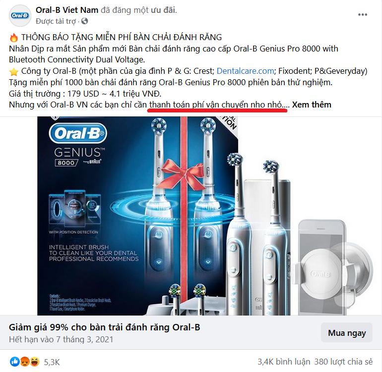 Lật tẩy chiêu trò giảm giá, tặng quà giá trị... để lừa tiền trên Facebook - 1