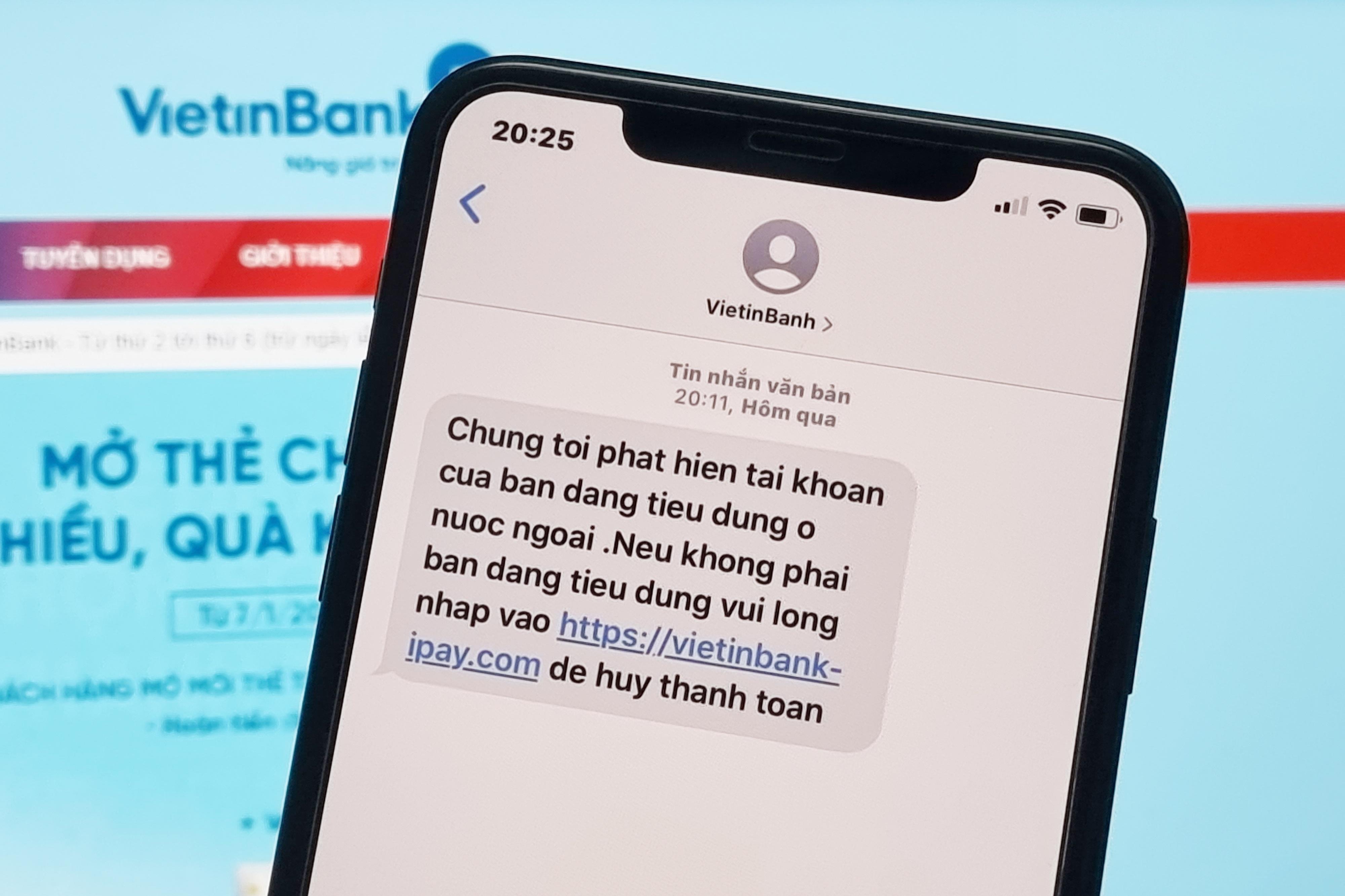 Tôi nhận tin nhắn lừa đảo từ Vietinbanh - 1