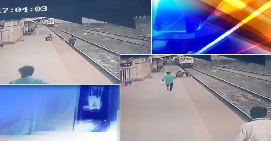 Nhân viên đường sắt chạy đua với tàu, cứu em bé thoát khỏi tử thần - 1