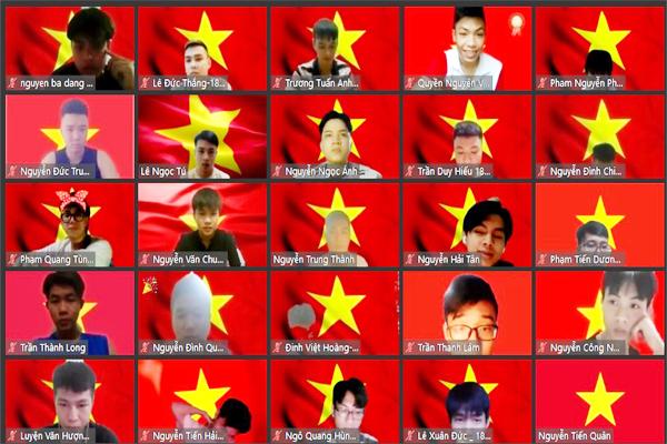 Sinh viên đồng loạt để hình nền lá cờ Tổ quốc nêu cao tinh thần chống dịch - 2