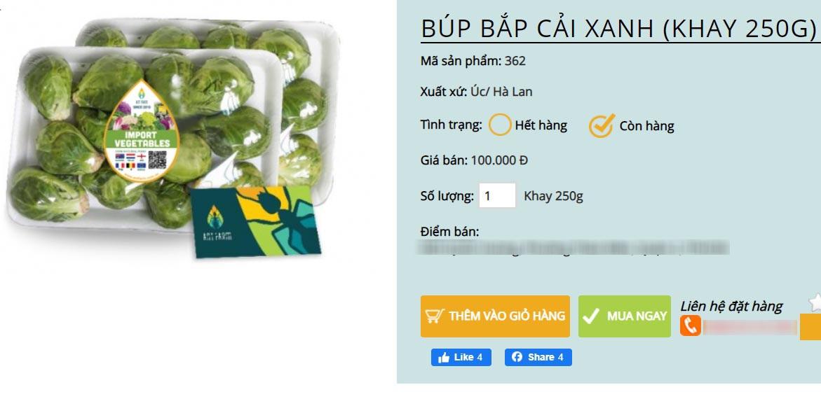 Bay từ Australia về Việt Nam, bắp cải tí hon được hét giá 400.000 đồng/kg - 2