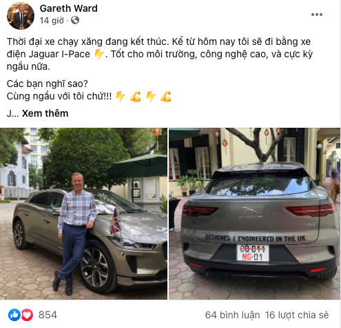 Ô tô điện Jaguar I-Pace đầu tiên về Việt Nam, chủ xe gây chú ý hơn cả - 1