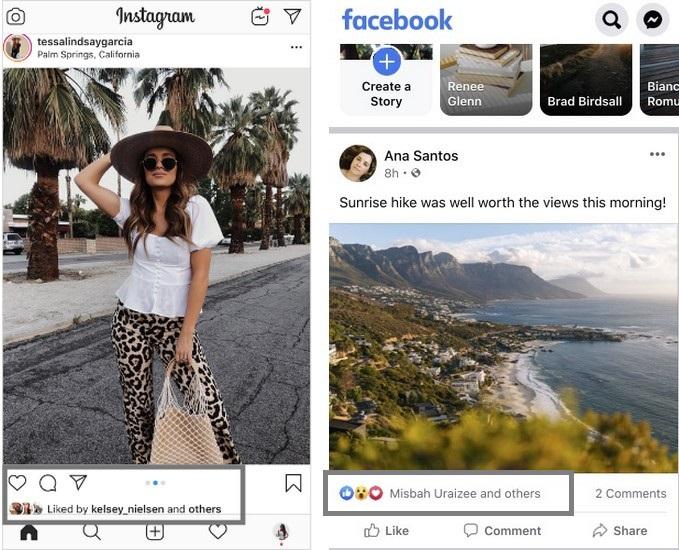 Facebook, Instagram cho người dùng ẩn số lượt Like trên bài viết - 1