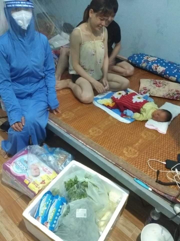 Nơi ở bị phong tỏa, nữ công nhân ở Bắc Giang sinh con ngay tại nhà trọ - 1