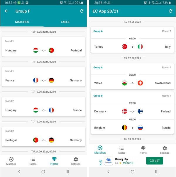 Ứng dụng lịch thông minh giúp bạn không bỏ lỡ trận đấu nào tại Euro 2020 - 2