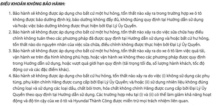 dieu-khoan-khong-bao-hanh-xe-o-to