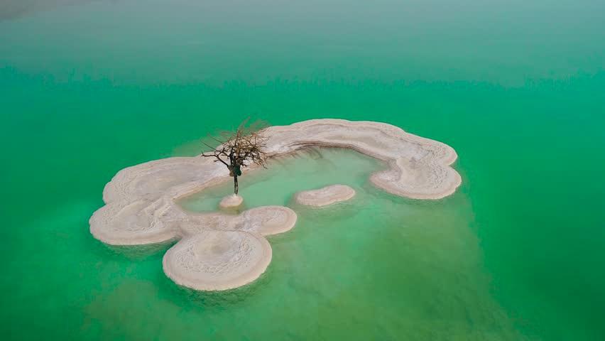 Đảo muối kỳ lạ nổi bồng bềnh ở Biển Chết - 2