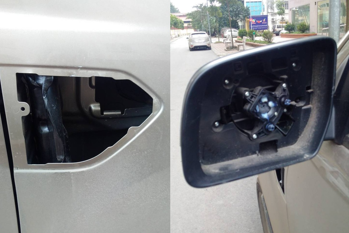 Táo tợn vụ trộm logo ô tô dù tài xế vẫn ngồi ngay bên trong xe - 2