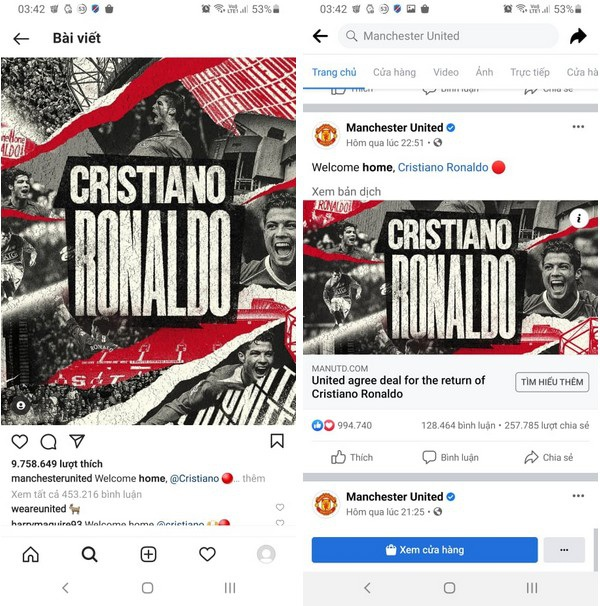 Bom tấn Ronaldo phát nổ khiến trang chủ CLB Manchester United bị sập - 2