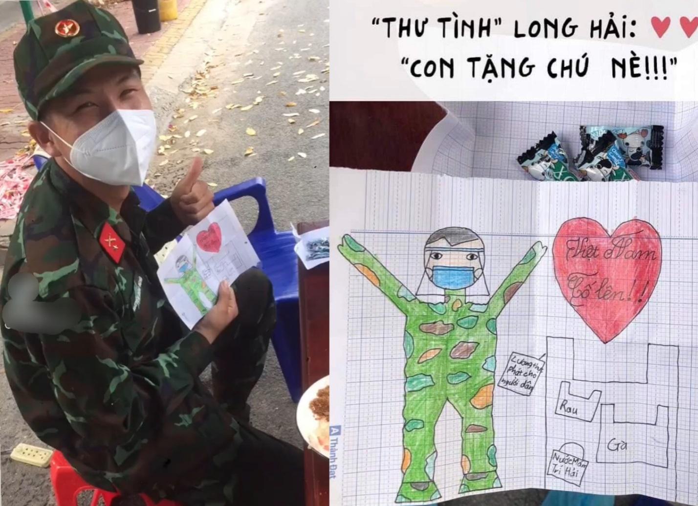 Bức thư tình đáng yêu bé gái gửi chú bộ đội cổ vũ tinh thần chống dịch - 1