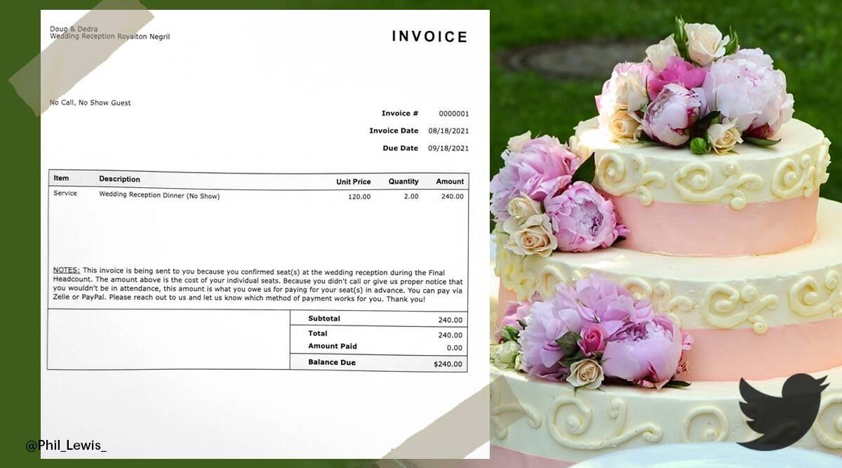 Cặp đôi gửi hóa đơn đòi tiền khách mời vì không... dự đám cưới - 1