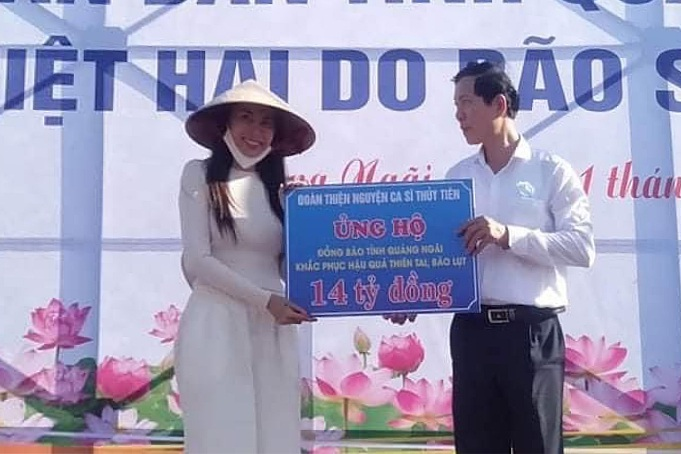 Quảng Ngãi lên tiếng xác nhận ca sĩ Thủy Tiên hỗ trợ người dân 14 tỷ đồng - VietNamNet