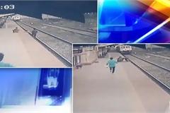 Nhân viên đường sắt chạy đua với tàu, cứu em bé thoát khỏi 'tử thần'