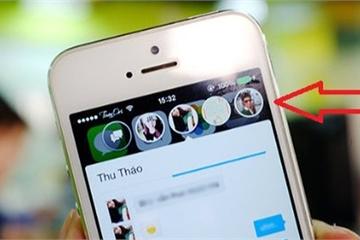 Đã có thể sử dụng bong bóng chat trên iPhone