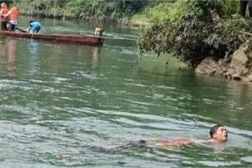 Lật thuyền chở 9 người trên sông Chảy, 1 người tử vong