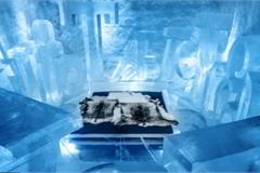 Kinh ngạc với khách sạn làm từ băng tuyết, lạnh giá bốn mùa
