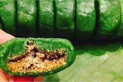 Độc đáo bánh ngải màu xanh của người Tày