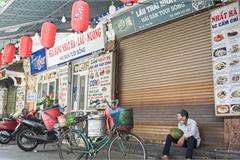 Cảnh 'cửa đóng then cài', đìu hiu ở phố ẩm thực 'không ngủ' Hà Nội