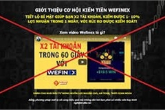 'Không tham gia đầu tư vào các website Wefinex.net, RaidenBo.com'