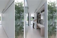 Ngôi nhà có cách giấu đồ nội thất dọc hành lang độc đáo
