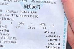 'Tá hỏa' nhận hóa đơn tiền nước tăng gấp 15 lần sau ngày giãn cách