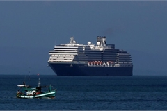 Coronavirus: 'Pariah' cruise ship rejected by five ports docks at last