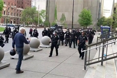 Two Buffalo policemen charged for shoving 75-year-old protester
