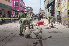 Mexico quake kills at least five and causes panic