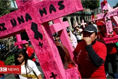 Mexican women strike to protest against gender-based violence