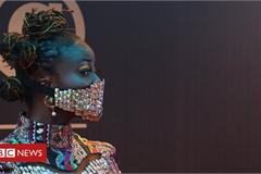 Coronavirus: Nigerian celebrities wear blinged-up masks