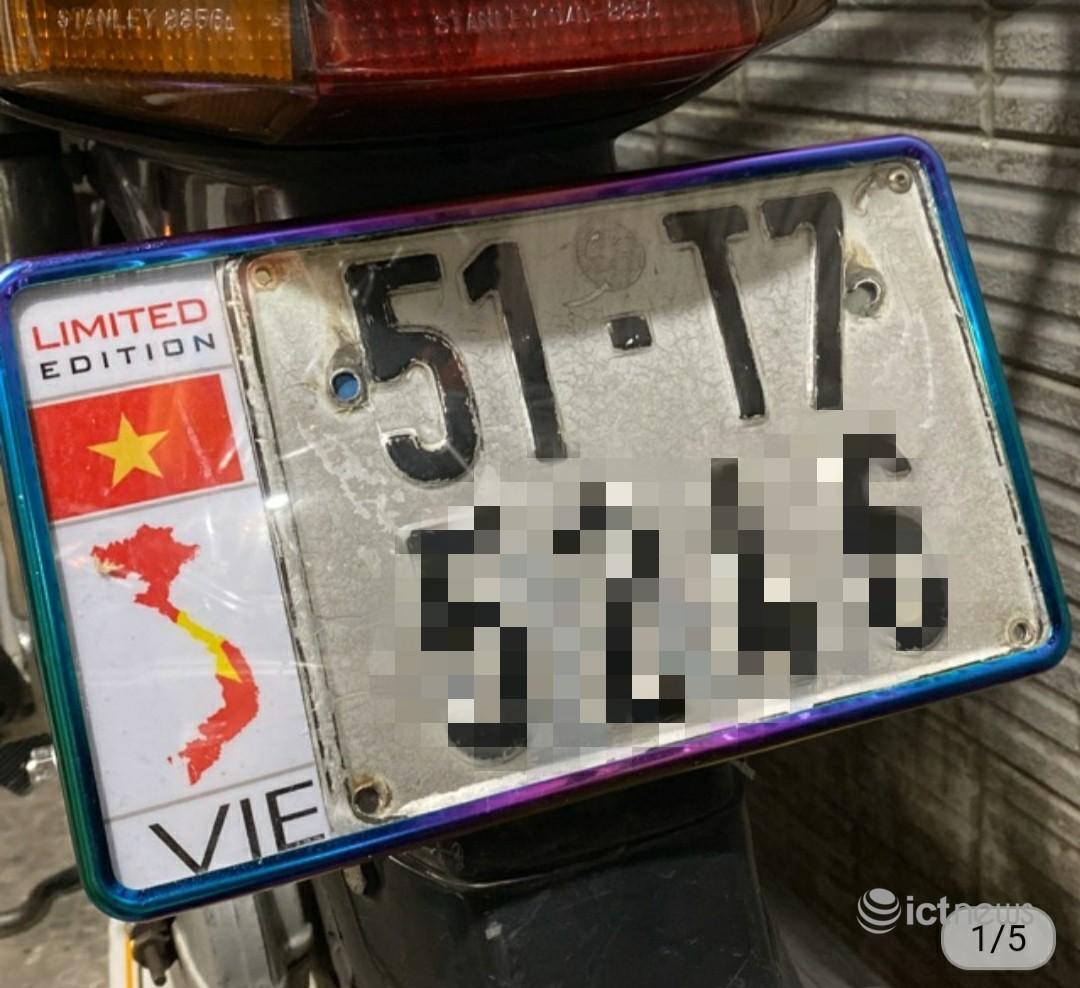 Gỡ bỏ các tin bán biển số xe có bản đồ vi phạm chủ quyền