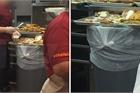 Hình ảnh bẩn kinh hoàng tại nhà hàng bán đồ ăn nhanh
