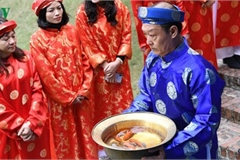 Thang Long relic site hosts re-enactments of traditional Tet rituals