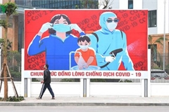 Streets of Hanoi filled with informative messages to aid fight against COVID-19