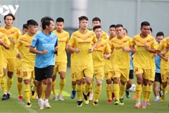 Vietnam U22 players train hard in anticipation of SEA Games 31