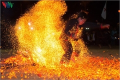 Fire dance of Red Dao in Dien Bien province