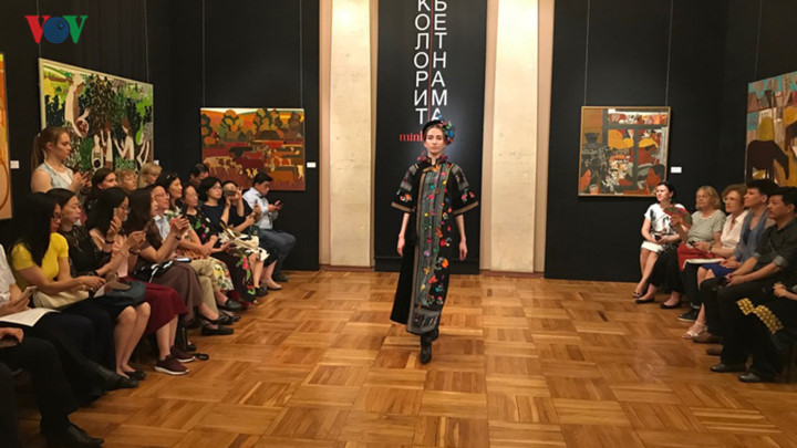 ao dai goes on display thanks to vietnamese designer in russia hinh 2