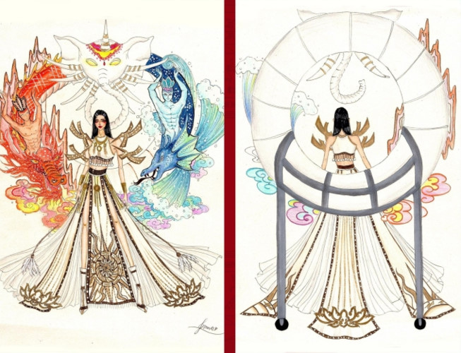 popular national costume entries revealed for hoang thuy's miss universe show hinh 1