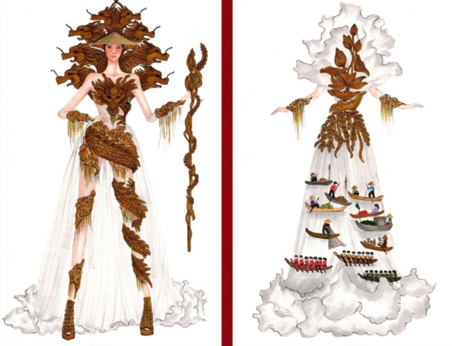popular national costume entries revealed for hoang thuy's miss universe show hinh 7