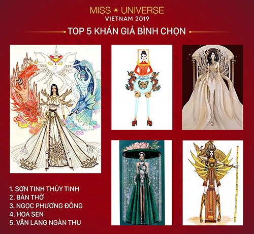 top 30 national costume entries unveiled to hoang thuy hinh 12
