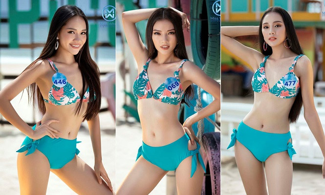 top 39 finalists of miss world vietnam 2019 dazzle whilst modelling in swimsuits hinh 1