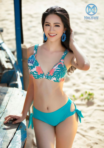 top 39 finalists of miss world vietnam 2019 dazzle whilst modelling in swimsuits hinh 23