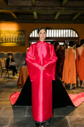 phuong thuy dazzles in ao dai fashion show hinh 11