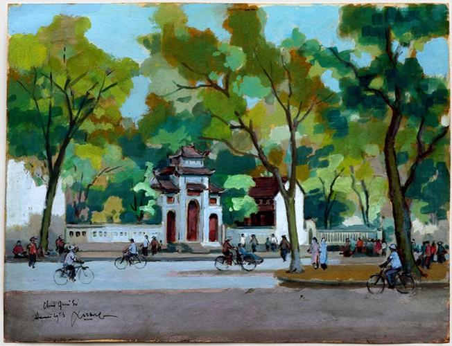 hanoi displayed through old paintings hinh 2