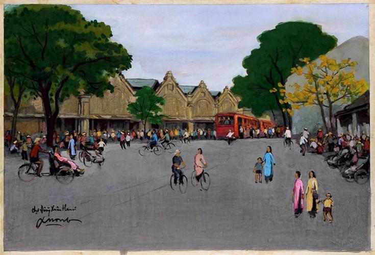 hanoi displayed through old paintings hinh 3
