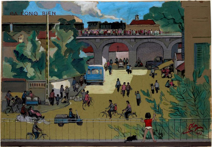 hanoi displayed through old paintings hinh 4