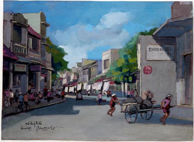 hanoi displayed through old paintings hinh 5