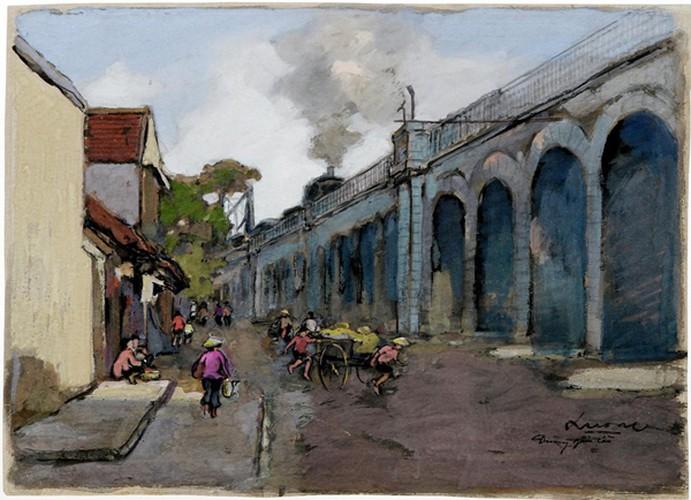 hanoi displayed through old paintings hinh 8