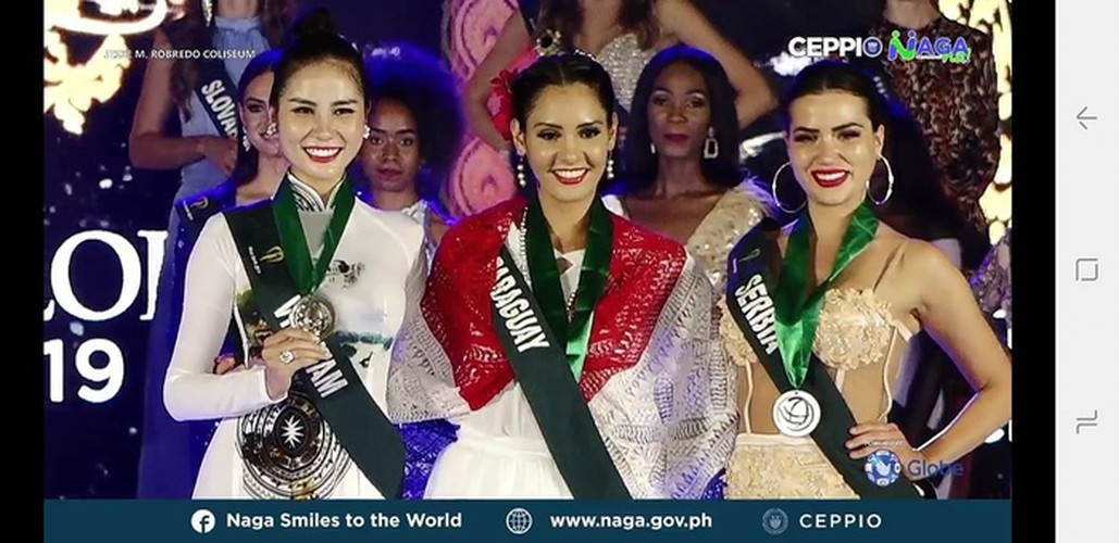 hoang hanh achieves another medal win at miss earth 2019 hinh 1